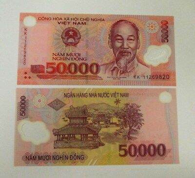 Vietnam 50000 Dong Banknote 1 Piece 2011 Series New Condition