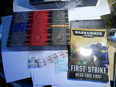 Warhammer 40k First Strike rules and terrain sealed no miniatures