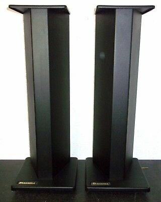 "Atacama 24"" Black Metal Speaker Stands with carpet spikes"