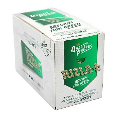 Genuine RIZLA Green Original Cigarette Rolling Papers Regular Size Rolling Paper