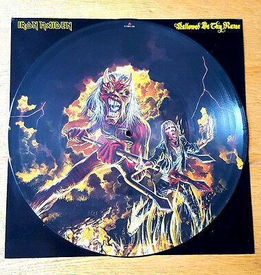 """Iron Maiden>>Hallowed Be Thy Name>>12""""picture Disc>>1993>>Emi"""
