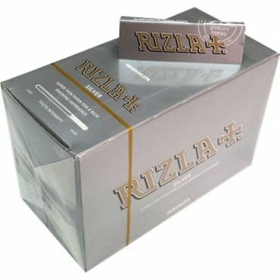 100% Genuine RIZLA SILVER  Cigarette Rolling Papers Regular  Rolling Paper P&P