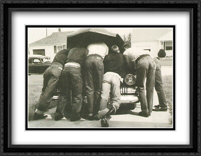 Boys with Their First Car, 1957 2x Matted 32x26 Framed Art Print by A. Owen