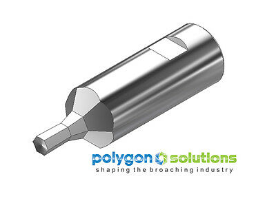 """5mm Hex Rotary Broach / Wobble Broach Punch with 1/2"""" Shank - Polygon Solutions"""