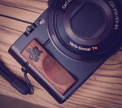 Premium Wood Hand Grip for Sony RX100 and RX100M III and II by J.B. Camera De...