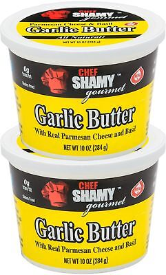 Chef Shamy Garlic Butter Parmesan Basil 10 Ounce (Pack of 2)