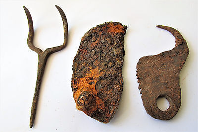 Ancient Superb Celtic Iron Ritual Artifacts