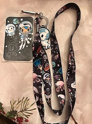 Tokidoki Space Unicorno Donuts Cat Lanyard Neckstrap With Charm Loungefly
