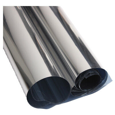 2M Silver Solar Reflective Window Film Paper Insulation Stickers One Way Mi G8B7