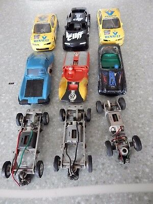 Revell and Scalextric scrapyard, various cars and spares