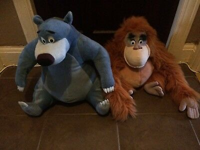 Large Baloo And King Louie Disney Soft Toys