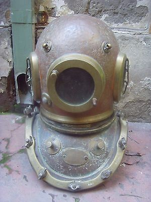 Antique Siebe Gorman & Co 12 Bolt Diver's Diving Helmet Matching Numbers 9716