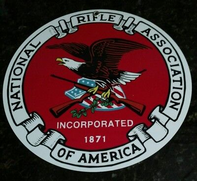 "NRA National Rifle Association logo metal ~12"" plaque sign ...#2 of 2 designs"