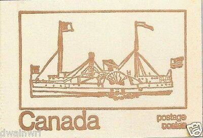 """Canada 1971 Centennial Booklet UNI #BK69f - Cover: """"Eastern City, mail ship 1855"""