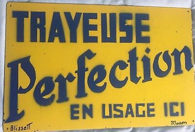 Vintage Trayeuse Perfection Metal Sign - Milking Machine Advertising From Quebec