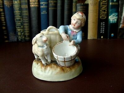 19th c German Hard Paste Porcelain Match Striker