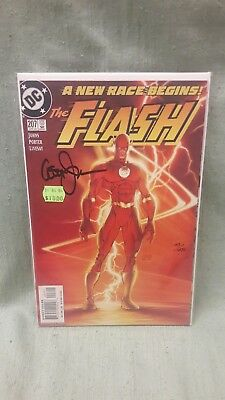 DC Comics The Flash Issue #207 2004 A New Race Begins! Signed by Geoff Johns!!!
