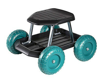 Workseat New Rolling Sturdy Plastic Include Storage Tray Holds 300 Pounds