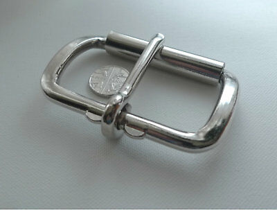 7.2 cm Large Silver Tone Heavy Duty Metal Arched Roller Buckle