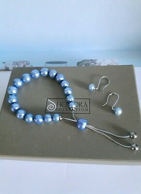 Honora Pearl Friendship Bracelet And Pearl  Earring Set.