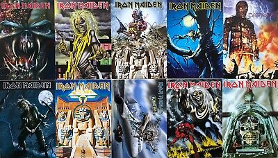 IRON MAIDEN POSTCARD SET incl.Trooper Final Frontier Number of the Beast etc