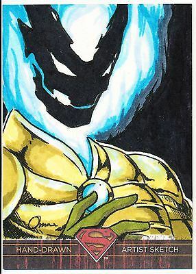 2013 DC Superman the Legend sketch card of Helspont by Omar Bergonia 1/1 !