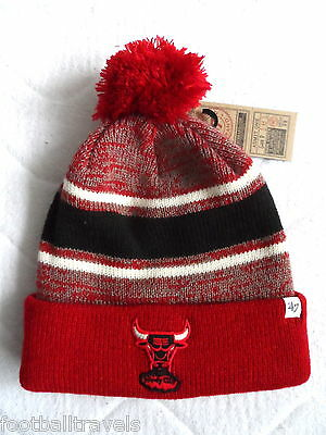 BULLS CHICAGO RETRO '47 BRAND NBA BEANIE BOBBLE TUQUE Hat BASKETBALL NEW TAG