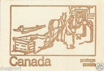 Canada 1971 Centennial Booklet UNI #BK69f - Cover: Country Postman, Winter 1900s