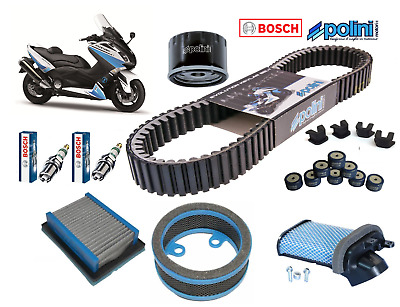 Pack Révision Courroie Filtres Air/Huile Polini Bougies Yamaha Tmax 530 2012 ->