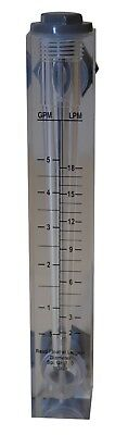 Acrylic Flow Meter Rotameter 0.5 to 5 GPM