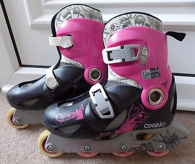 Inline Skates, girls, adjustable size 1-3