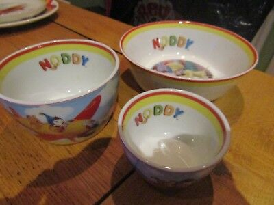 Trio of Graduated Royal Worcester 'Noddy' Bowls - Dated 2006/7 - Excellent