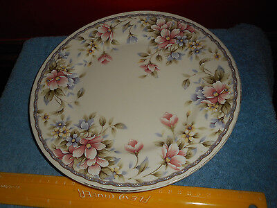 """ANDREA BY SADEK CAKE PLATE 10 1/2"""" Floral Chintz Porcelain Plate MADE IN JAPAN"""