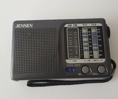 Vtg JENSEN AM/FM/TV1/TV2 12 Channel Pocket Portable Radio Receiver MR-400