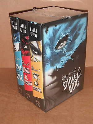 The Daughter of Smoke and Bone Trilogy Hardcover Gift Set by Laini Taylor NEW