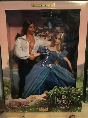 Barbie Romance Novel Collection Jude Deveraux the Raider Barbie Ken set New NRFB
