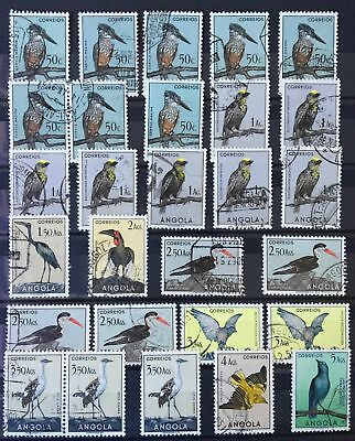 Angola 1951, Birds 28 used stamps, not full set