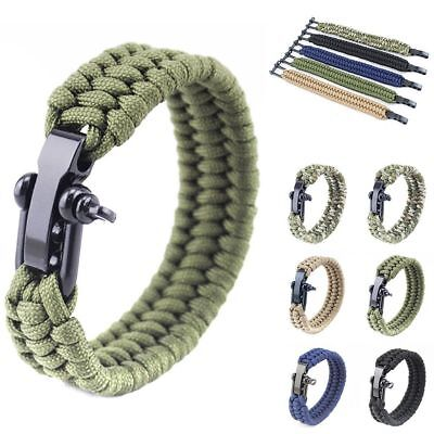 Special Ops Survival Outdoor Paracord Bracelet Camping Shackle Steel Hiking New