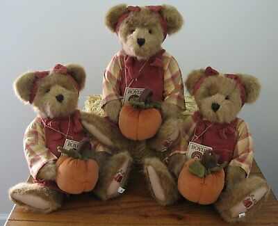 "The Boyds Collection Penelope P. Punkinbeary Bear Plush 14"" Pumpkin Autumn"