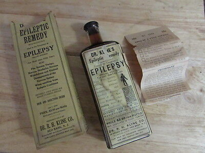 RARE Unusual DR KLINES EPILEPSY Cure/REMEDY, Embossed, LABELED, Boxed & UNOPENED