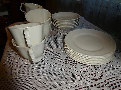 ROYAL ALBERT GAINSBOROUGH pattern.Set of 6 cups,saucers and plates