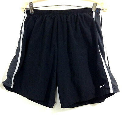 m. NIKE DRI-FIT Men's Gray/Black Athletic Workout Running Shorts size XLarge
