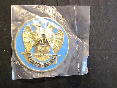 Masonic Badge Patch Button 32 Spes Mea in Deo Est