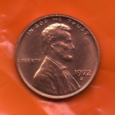 1972 S Penny   UNC   SELL OFF   Slot Filler or Starter Coin   (72S0808)