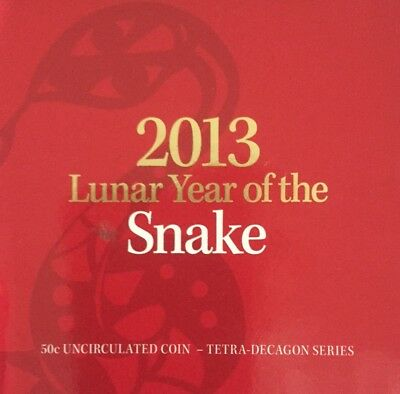 2013 50c Coin In Card - Year Of The Snake