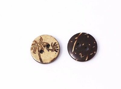 Tree Coconut Buttons 15mm 50pcs