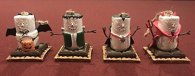 Lot Of 4 The Smores Original Halloween Midwest Of Cannon Falls Ornaments
