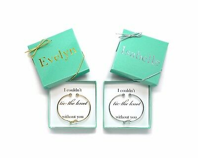 Personalized Bridesmaid Proposal Gift - Tie the Knot Bracelet - Bridesmaid Gift