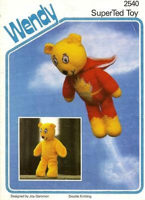 ORIG WENDY PATTERN: 'SUPER TED' with REMOVABLE OUTER  SKIN 14in (35.5cm) SEE PIC