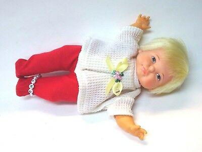 1967 Ideal Newborn Thumbelina Pullstring Doll w/ 2 PC Outfit Working Doll*MINTY